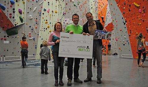 Artikelbild zu Artikel Benefiz-Klettermarathon – auf 7000 € aufgerundet