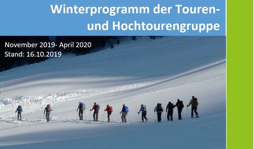 Artikelbild zu Artikel Touren-Winterprogramm 2019/20 online!
